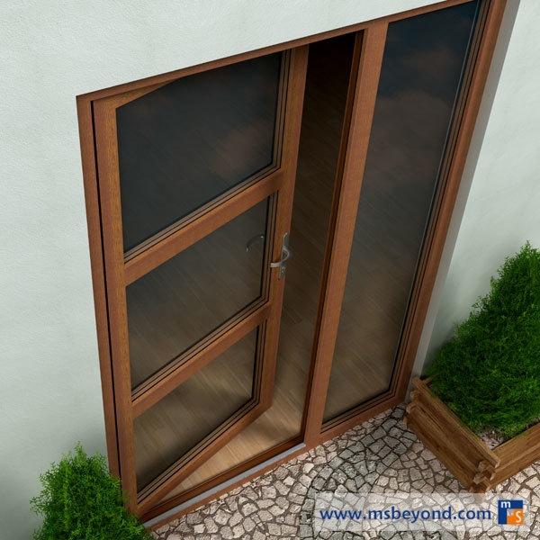 Drzwi Tarasowe Pcv Produkty Oknoterm Piaseczno